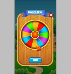 ui game user interface panel for mobile popup vector image