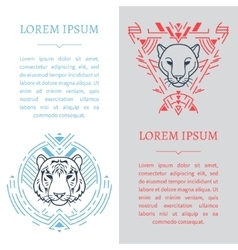 Vertical design templates vector image