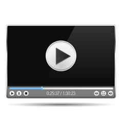 Video Player vector image