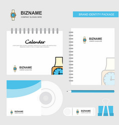watch logo calendar template cd cover diary and vector image