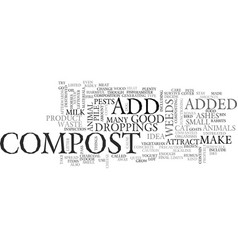 What not to compost text word cloud concept vector