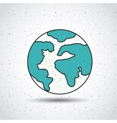 world planet isolated icon design vector image