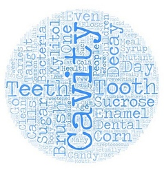 Xylitol cure for caries text background vector