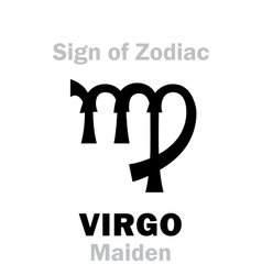 Astrology Sign of Zodiac VIRGO The Maiden vector image vector image