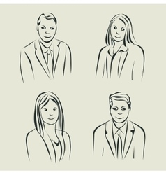Characters design Faces sketch vector image vector image