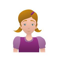 Kid child girl avatar vector