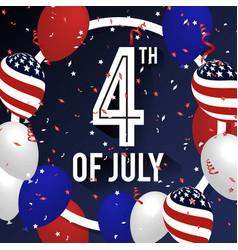 4th of july celebration background design vector image