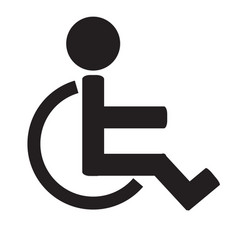 disabled sign iconinvalid iconhuman on vector image