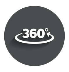 Angle 360 degrees sign icon Geometry math symbol vector image vector image