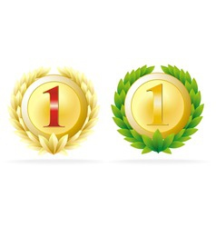 award number one vector image vector image