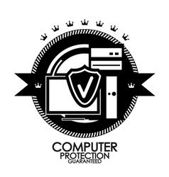 Black retro vintage label tag badge computer vector image