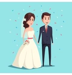 Bride and groom as wedding couple vector image
