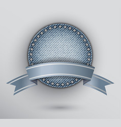 circle jeans award vector image