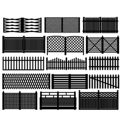 Fence set vector image vector image