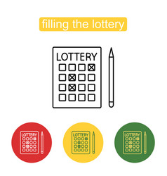 lottery line icon editable stroke vector image vector image