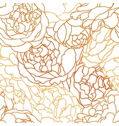 seamless texture with flowers roses vector image vector image