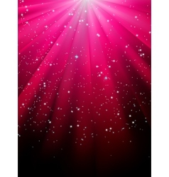 Stars on red striped background EPS 8 vector image vector image