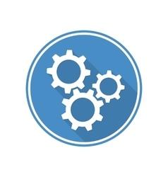 Symbol settings cogwheel vector image vector image