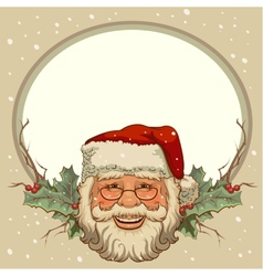 The head of Santa Claus Template cards for vector image vector image