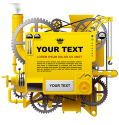 yellow complex fantastic machine vector image
