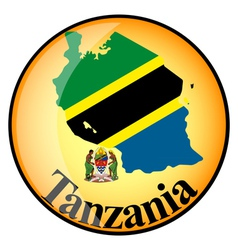 button Tanzania vector image vector image