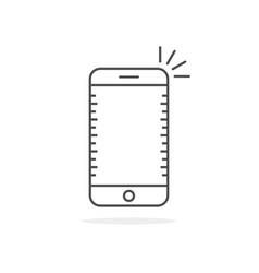 simple thin line smartphone icon vector image