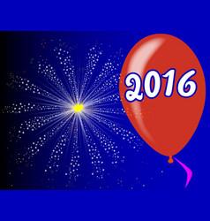 2016 balloon vector image