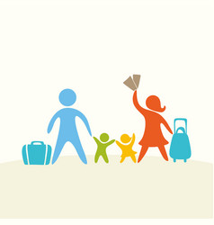 A happy family life vector