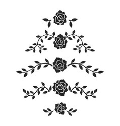 abstract roses decoration vector image