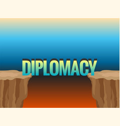 Abyss and word diplomacy as bridge vector