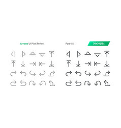 Arrows ui pixel perfect well-crafted thin vector
