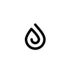 black drop oil logo icon vector image
