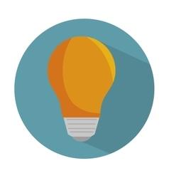 Bulb light energy d icon vector