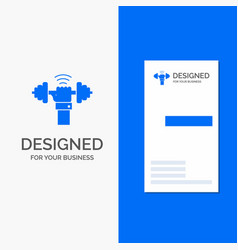 Business logo for dumbbell gain lifting power vector