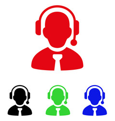 call center boss icon vector image