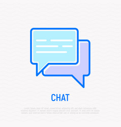 chat thin line icon two speech bubbles vector image