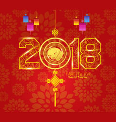 Chinese new year lantern ornament design year og vector
