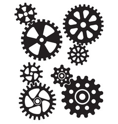 Cogs and gears interlocking design vector