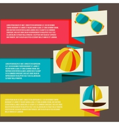 Collection of banners with summer design elements vector