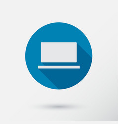 computer icon in flat style vector image