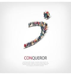 conqueror people symbol vector image