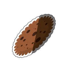 Cookie delicious snack vector