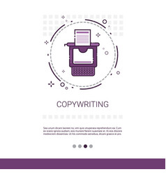 copywriting freelance occupation content marketing vector image