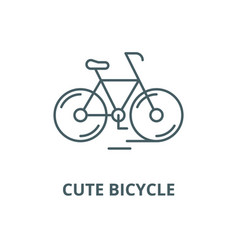 cute bicycle line icon linear concept vector image