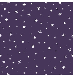 Cute hand drawn seamless pattern with night sky vector image