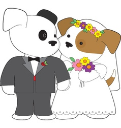 cute puppy marriage vector image