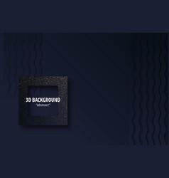dark black geometric background 3d paper cut vector image