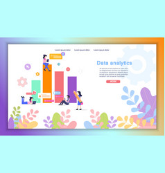 data analytics online service flat website vector image