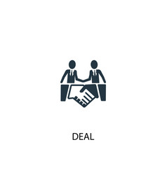 deal icon simple element vector image