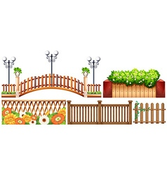 Different design of fences vector image